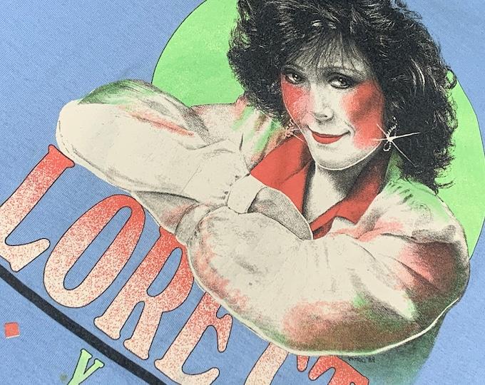 L * vtg 80s 1989 Loretta Lynn t shirt * classic country music * 58.168