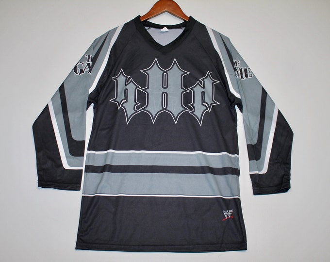 M * nos vtg 90s Triple H The Game wwf wrestling jersey shirt