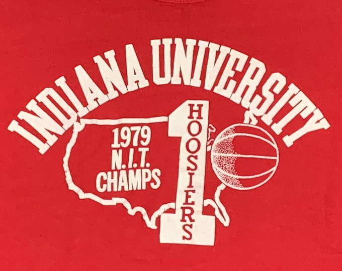 S/M * vtg 70s 1979 Indiana Hoosiers basketball t shirt * small medium * 67.128