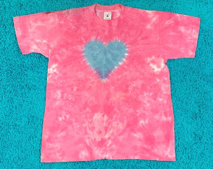 M * nos vtg 90s tie dye single stitch t shirt * 76.132