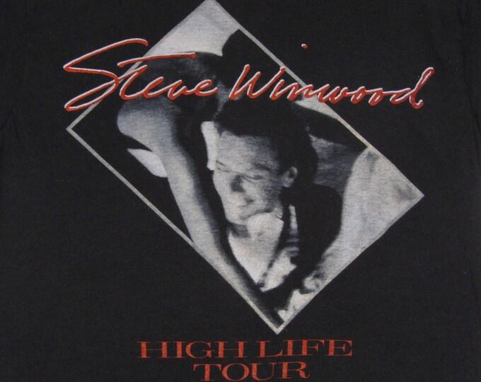 S * vtg 80s 1986 Steve Winwood high life tour t shirt * traffic * 103.36