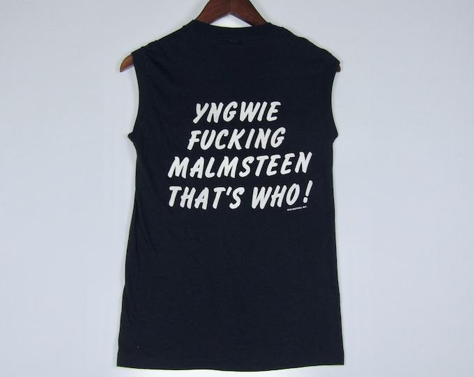 XS * vtg 80s 1986 Yngwie Malmsteen muscle t shirt * tour * 3.188