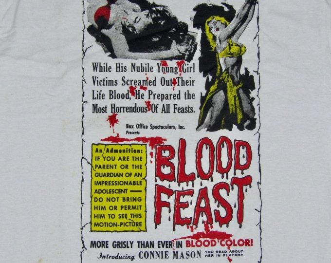 XL * NOS vtg 90s Blood Feast movie t shirt * cult horror * 89.77