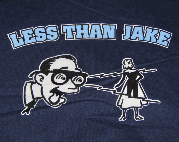 XL * nos vtg 90s Less Than Jake hoodie sweat shirt * P1.83 punk ska