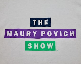 XL * vtg early 90s the MAURY Povich Show tv promo t shirt * 99.22