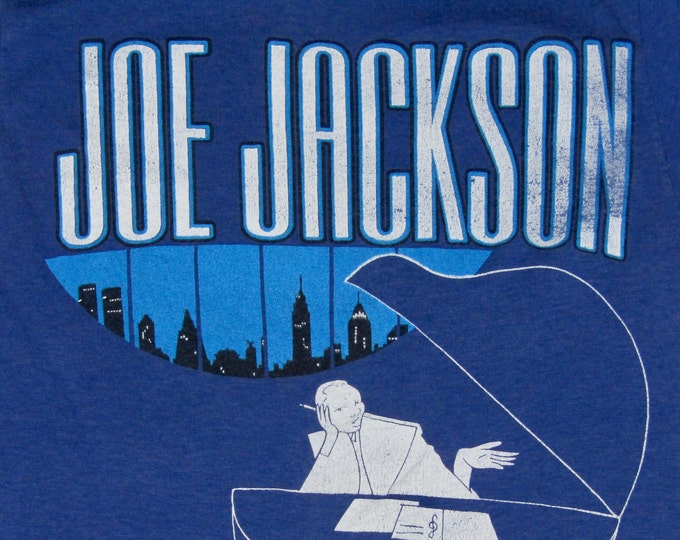 2XS * vtg 80s 1982 Joe Jackson night and day tour t shirt * Steppin Out * XXS * 9.153