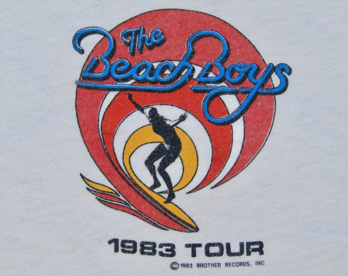 S * vtg 80s 1983 The Beach Boys muscle tour t shirt * 68.150