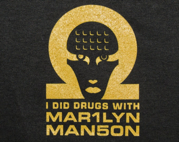 XL * NOS vtg 90s 1998 Marilyn Manson i did drugs with t shirt * omega mechanical animals
