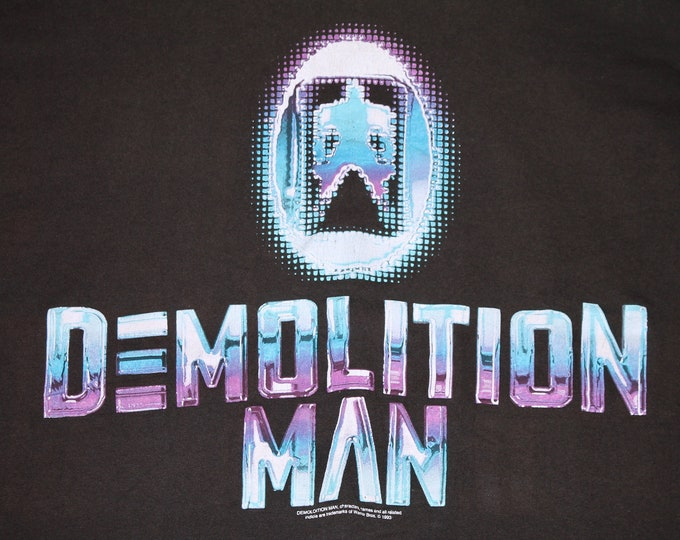 XL * vtg 90s 1993 Demolition Man movie t shirt * wesley snipes sylvester stallone * 32.201