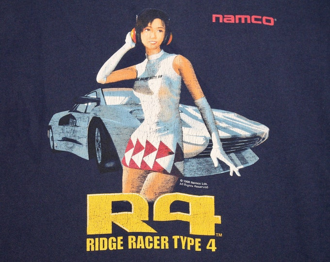 XL * vtg 90s 1998 Ridge Racer Type 4 namco video game t shirt * Playstation * 103.7