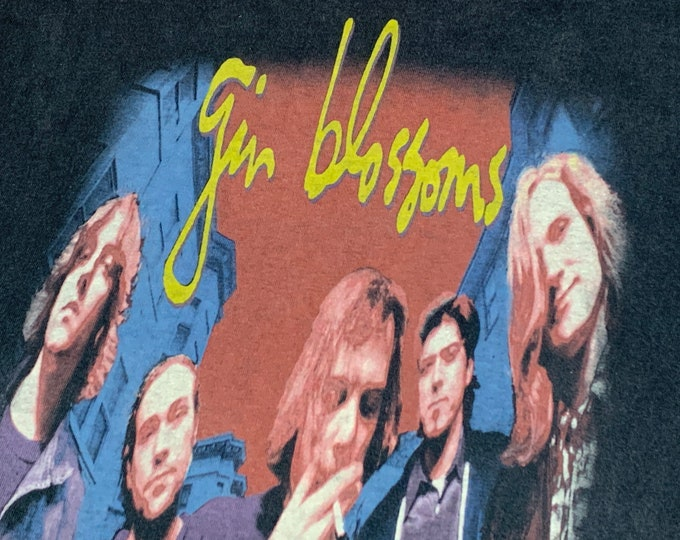 L * vtg 90s Gin Blossoms hey jealousy single cover t shirt * tour * 15.173