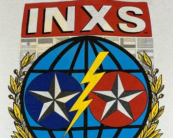 M * nos vtg 80s 1987 INXS kick tour t shirt * 25.154 calling all nations