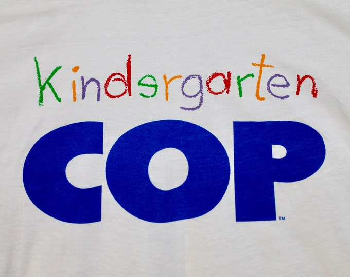 L * NOS vtg 1990 Kindergarten Cop movie promo t shirt * arnold schwarzenegger * 99.19