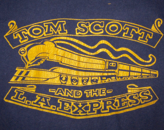 XS * vtg 70s 1973 Tom Scott LA Express t shirt * jazz funk rap * 2.143