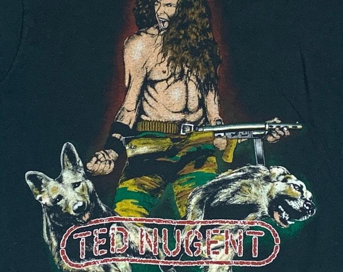 S * vtg 80s 1982 Ted Nugent t shirt * 50.147