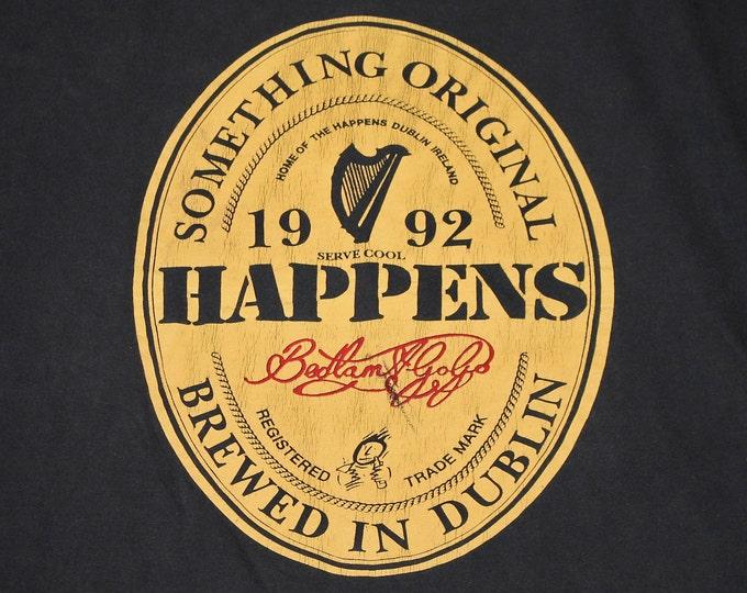 L/XL * vtg 90s 1992 Bedlam A Go Go something happens t shirt * 105.14