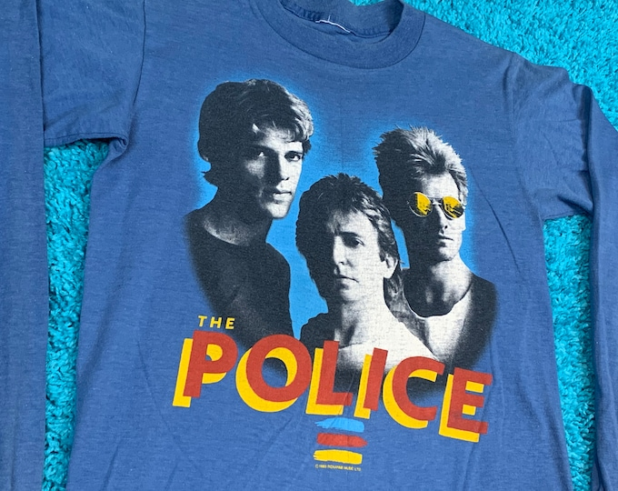 S * vtg 80s 1983 The Police synchronicity tour t shirt * longsleeve * 29.195