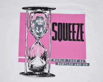 XL * NOS vtg 80s 1988 SQUEEZE baylon and on tour t shirt * 53.129