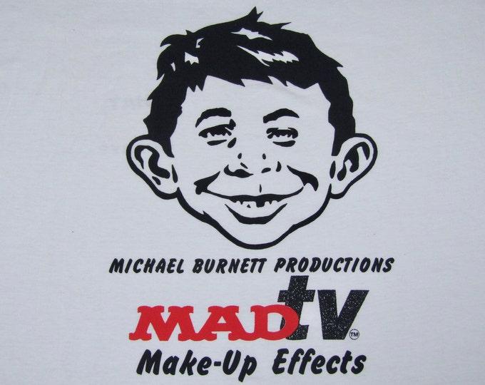 XXL * NOS vtg 90s MadTv crew t shirt * mad magazine alfred e neuman * 86.89
