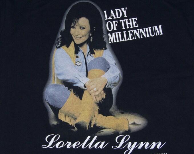 L * NOS vtg 90s Loretta Lynn lady of the millennium t shirt * 27.181