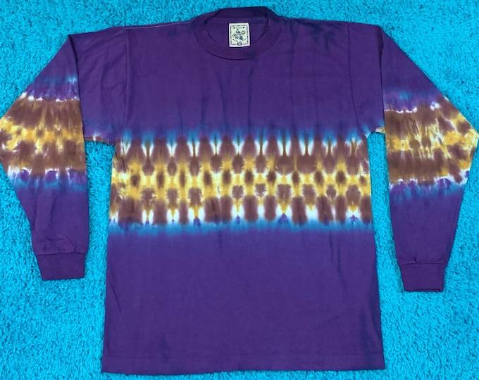 M * nos vtg 90s tie dye single stitch t shirt * 76.139