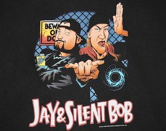 XL * vtg 90s 1998 Jay & Silent Bob t shirt * view askew clerks mallrats kevin smith movie comic * 103.4