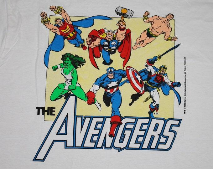 XL * NOS vtg 80s 1989 The Avengers marvel comic t shirt * 96.28