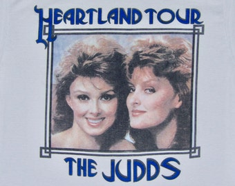 L * thin vtg 80s 1988 The judds concert tour t shirt * wynonna naomi judd country music * 72.145