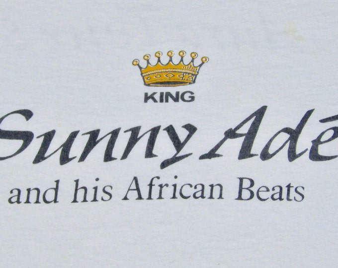 M * vtg 80s 1984 King Sunny Ade tour t shirt * african pop world music * 90.53