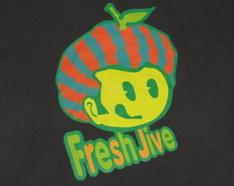 XL * vtg 90s FreshJive t shirt * skateboard streetwear rave raver fresh jive * 5.140