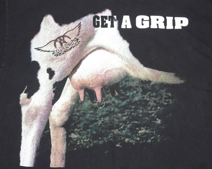 XL * vtg 90s 1993 Aerosmith get a grip t shirt * tour * 102.21