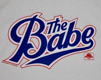 L * NOS vtg 90s 1992 The Babe promo movie t shirt * 13.154
