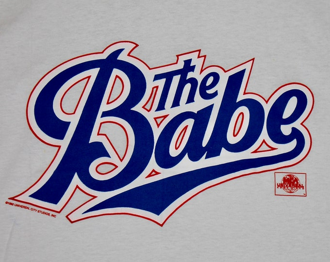 L * NOS vtg 90s 1992 The Babe promo movie t shirt * 13.154