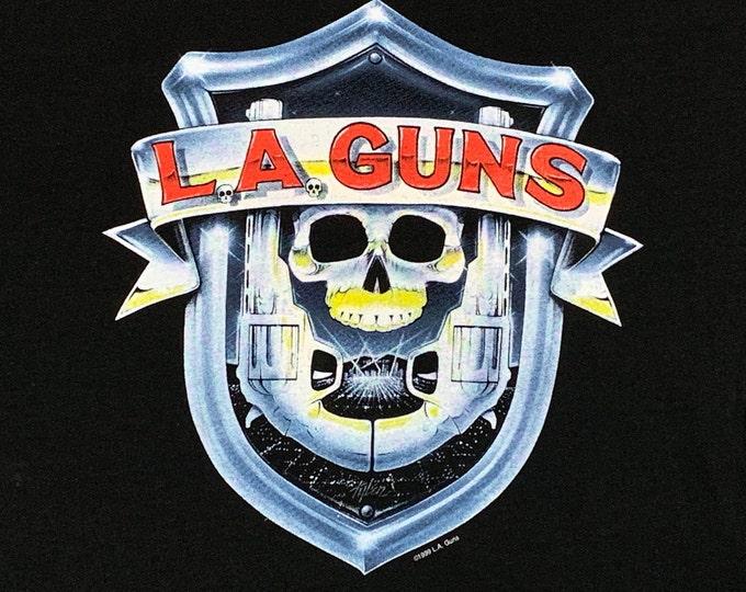 XL * vtg 90s L.A. Guns t shirt * 78.126 * glam sleave metal