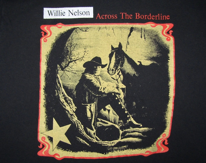 L * vtg 90s 1993 Willie Nelson t shirt * classic country outlaw tour * 3.185