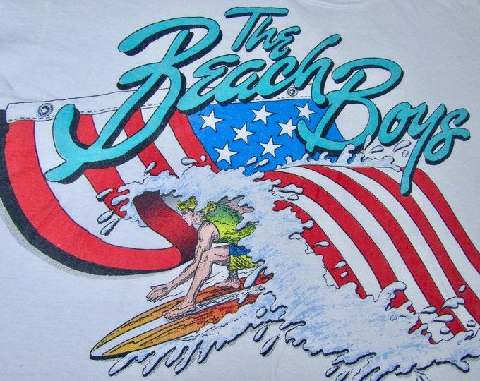 XXL * vtg 80s The Beach Boys catch a wave USA screen stars t shirt * 84.98 2xl