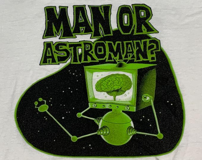 XL * vtg 90s 1995 Man or Astroman tour t shirt * 27.190 astro man