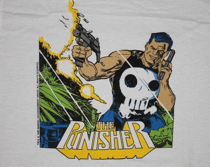 M * NOS vtg 80s 1987 The Punisher marvel comic t shirt * 97.26