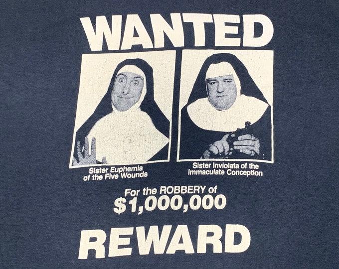 M * vtg 1990 Nuns On The Run promo movie t shirt * 68.159 vhs lpotl