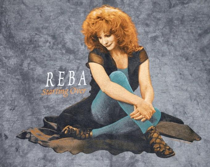 XL * vtg 90s 1996 Reba McEntire tie dye acid wash tour t shirt * country music * 25.146