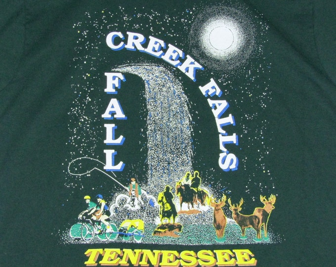 M/L * vtg 90s Fall Creek Falls Tennessee nature tourist t shirt * medium large * 97.36