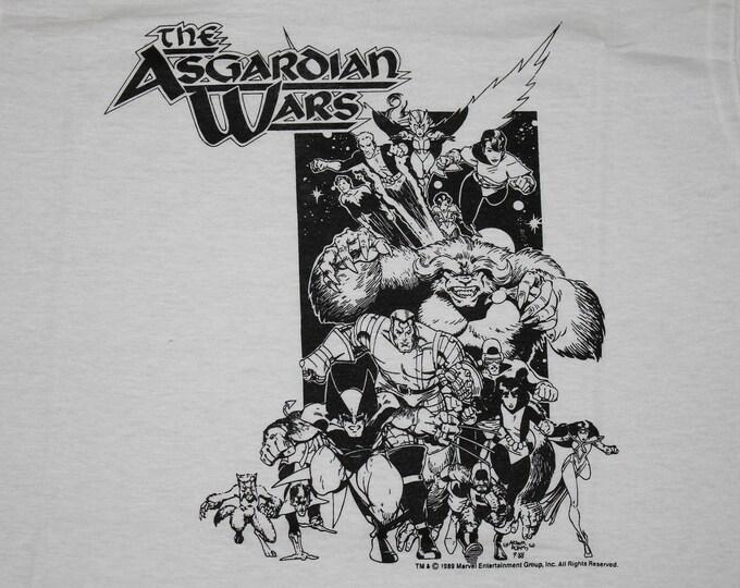 M * NOS vtg 80s 1989 The Asgardian Wars marvel comic t shirt * 96.31
