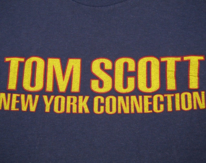 S * vtg 70s 1975 Tom Scott New York Connection t shirt * jazz funk rap * 3.187