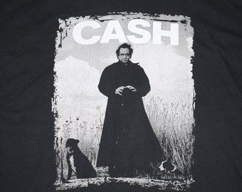 XXL * vtg 90s 1994 Johnny Cash american recordings t shirt * rick rubin * 107.29