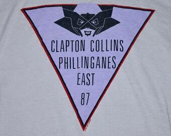 M * vtg 80s 1987 Eric Clapton tour t shirt * phil collins * 24.184