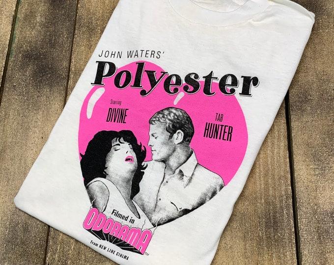 S * NOS vtg 80s 1981 John Waters Polyester movie t shirt * Divine * 53.140