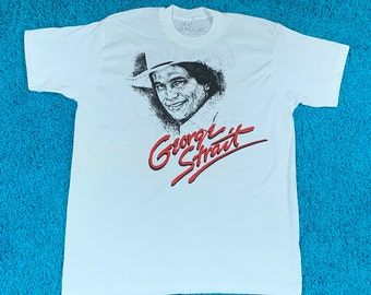 XL * nos vtg 90s 1990 George Strait light duty tour t shirt * concert country music * 75.142