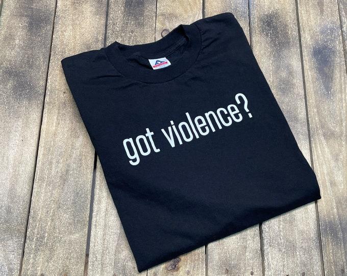 XL * vintage late 90s Marilyn Manson got violence t shirt * concert tour