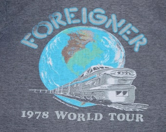 XS/XXS * thin vtg 70s 1978 Foreigner tour t shirt * winterland * 106.26