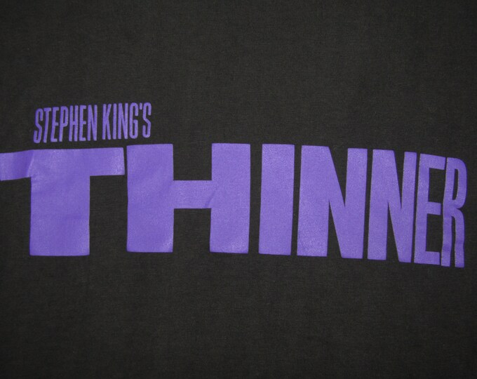 XL * vtg 90s 1996 Stephen King Thinner movie promo t shirt * 5.141